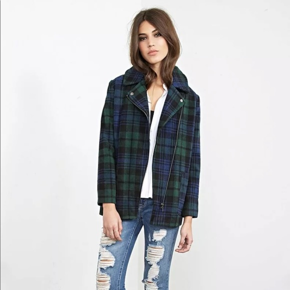 Forever 21 Jackets & Blazers - Forever 21 Plaid Overcoat — XS